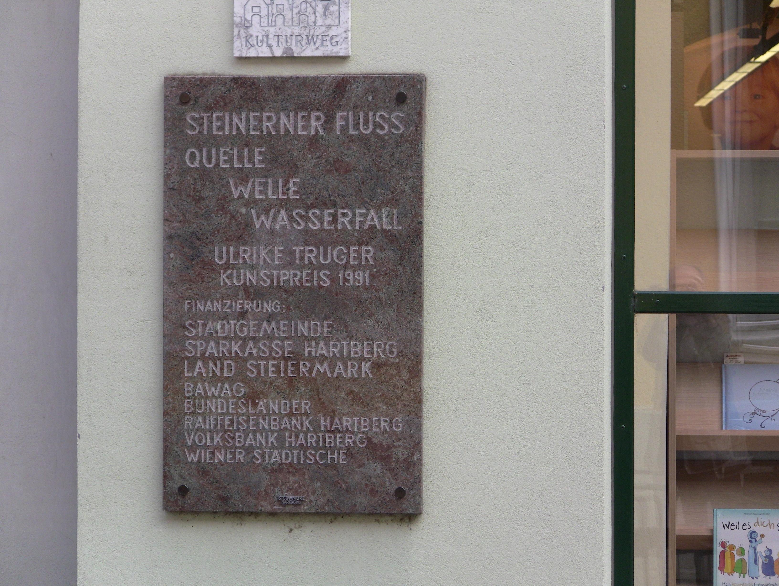 Hinweis Steinerner Fluss