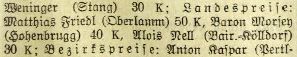 "Eintrag im ""Grazer Tagblatt"""