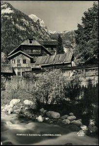 Der alte Lodenwalcher. Wenige Meter weiter heißt der Bach Weißenbach.