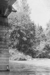 Die Brücke über die Enns bei Weißenbach/Haus i.E.