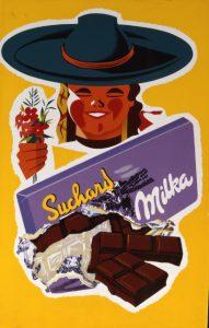 Ein Milka-Plakat aus dem Jahre 1955